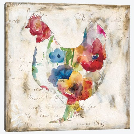 Flowered Hen Canvas Print #CRO432} by Carol Robinson Canvas Art