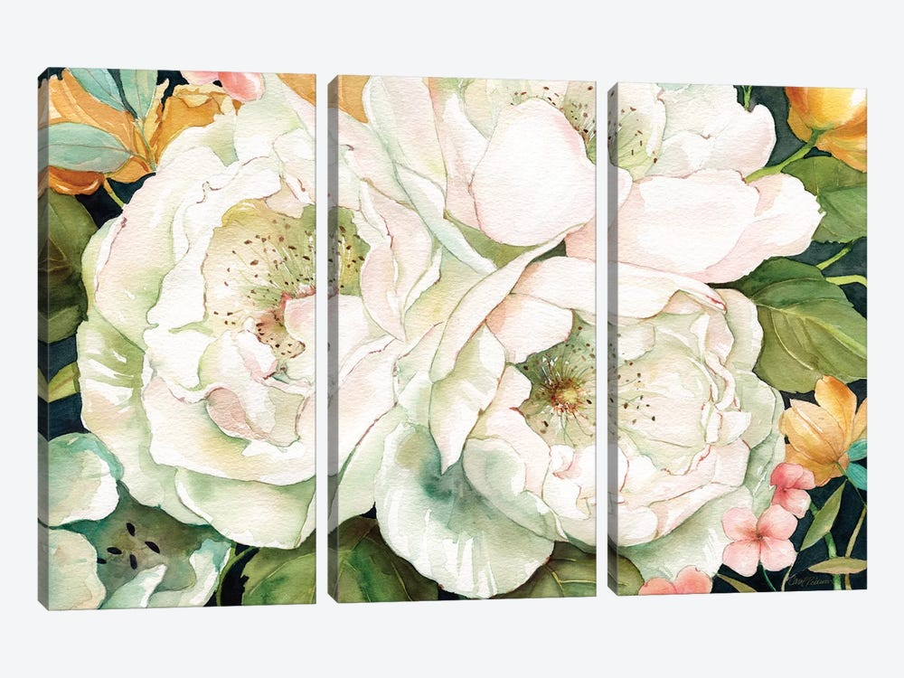 Garden In White by Carol Robinson 3-piece Canvas Wall Art