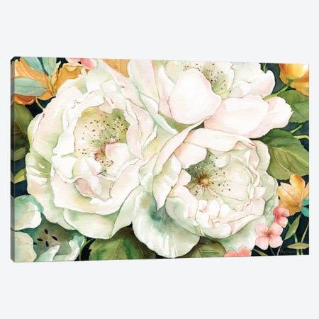 Garden In White Canvas Print #CRO435} by Carol Robinson Canvas Art Print