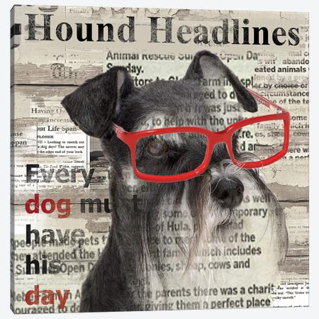 Hound Headline Canvas Print #CRO43} by Carol Robinson Canvas Artwork