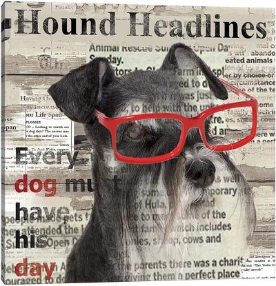 Hound Headline Canvas Print #CRO43