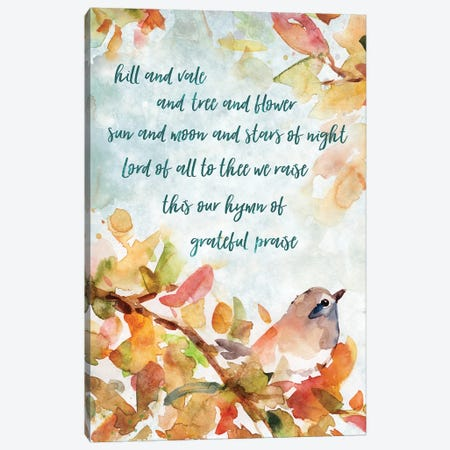 Hymn Of Praise Canvas Print #CRO440} by Carol Robinson Art Print