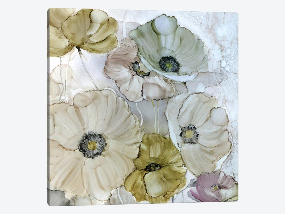Iridescent Poppies by Carol Robinson 1-piece Canvas Print