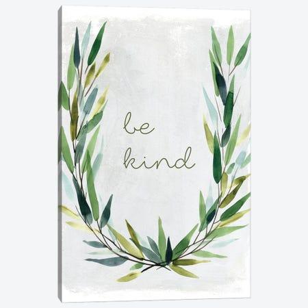 Kind Greenery Wreath Canvas Print #CRO442} by Carol Robinson Canvas Print