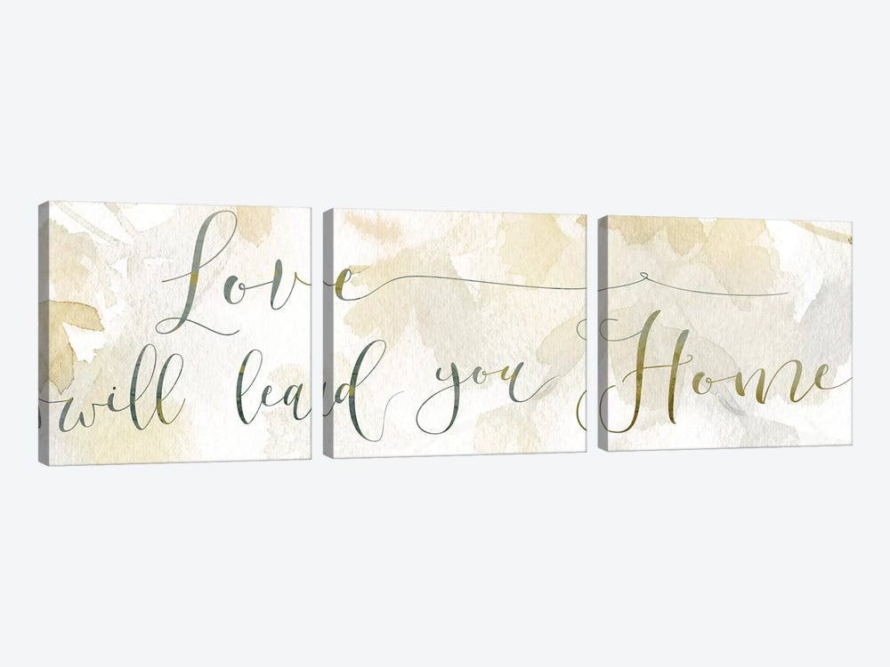 Love Will Lead 3-piece Art Print