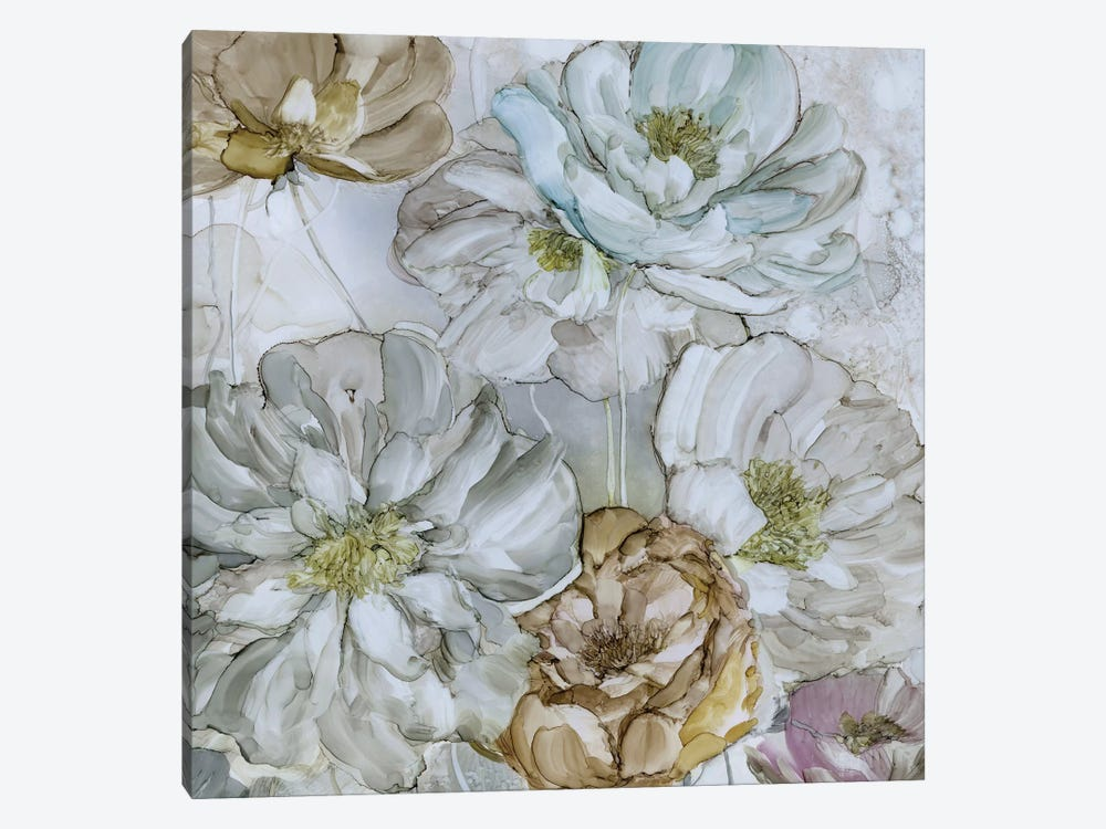 Moonlit Peonies 1-piece Canvas Wall Art