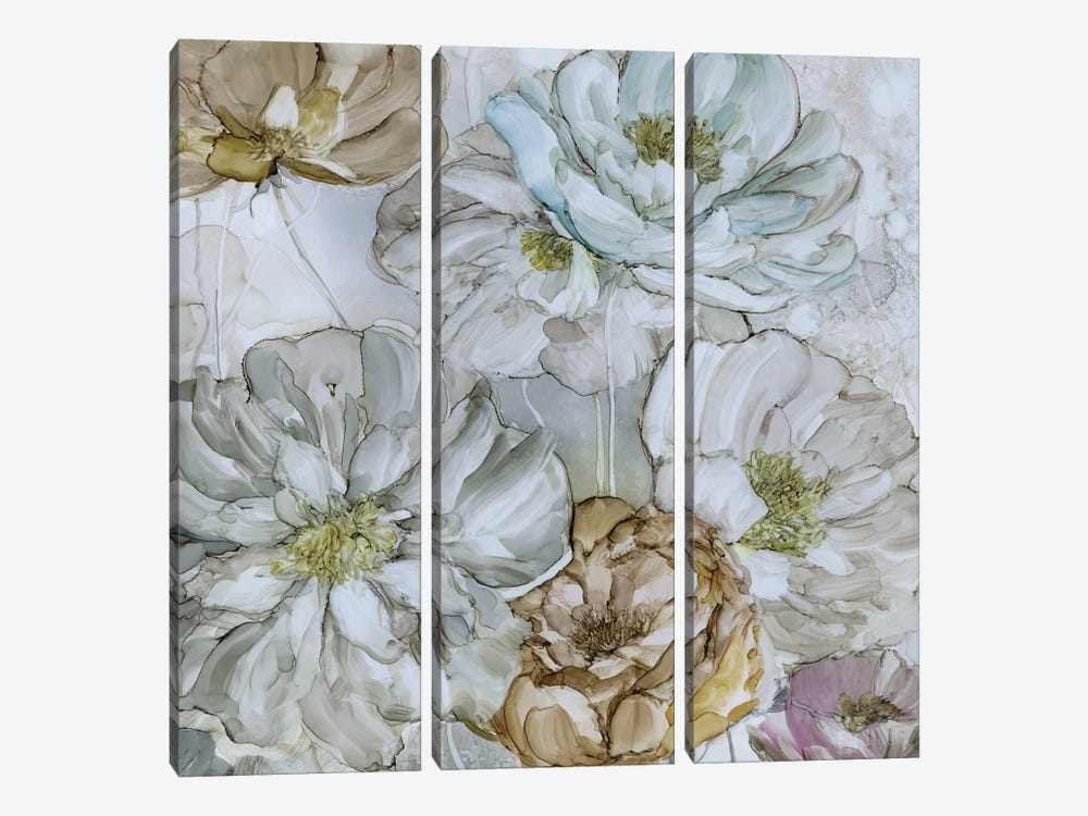 Moonlit Peonies by Carol Robinson 3-piece Canvas Art