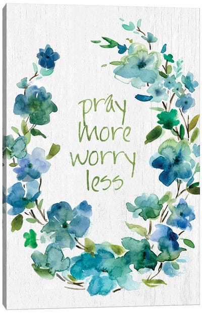 Pray Flower Wreath Canvas Art Print