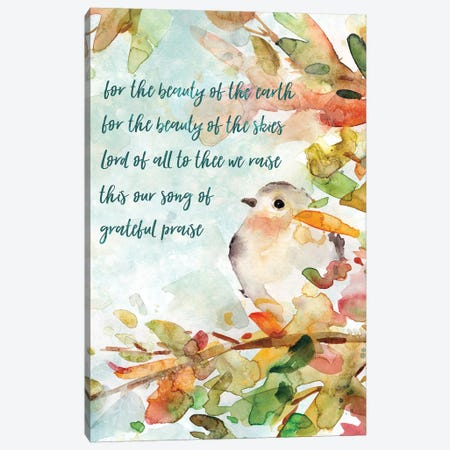 Song Of Praise Canvas Print #CRO449} by Carol Robinson Canvas Art Print