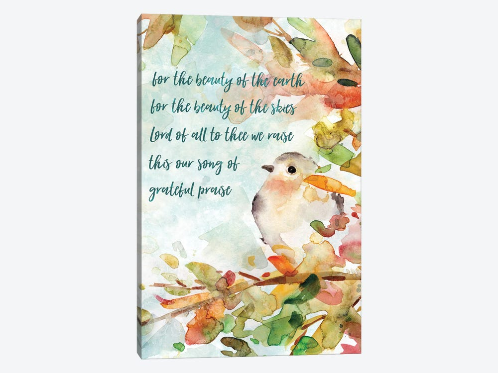 Song Of Praise by Carol Robinson 1-piece Canvas Print