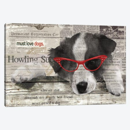 Howling Success Canvas Print #CRO44} by Carol Robinson Canvas Print