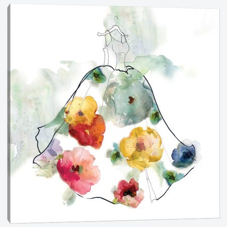 Fashionable Florals I Canvas Print #CRO459} by Carol Robinson Canvas Artwork