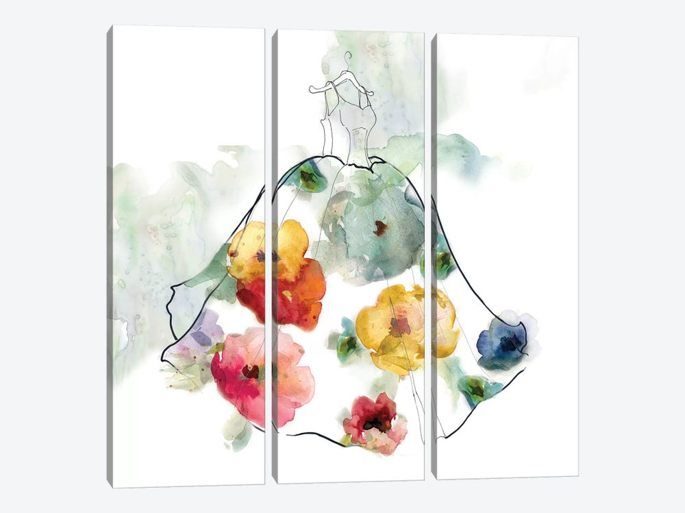 Fashionable Florals I 3-piece Canvas Wall Art