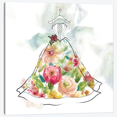 Fashionable Florals II Canvas Print #CRO460} by Carol Robinson Art Print