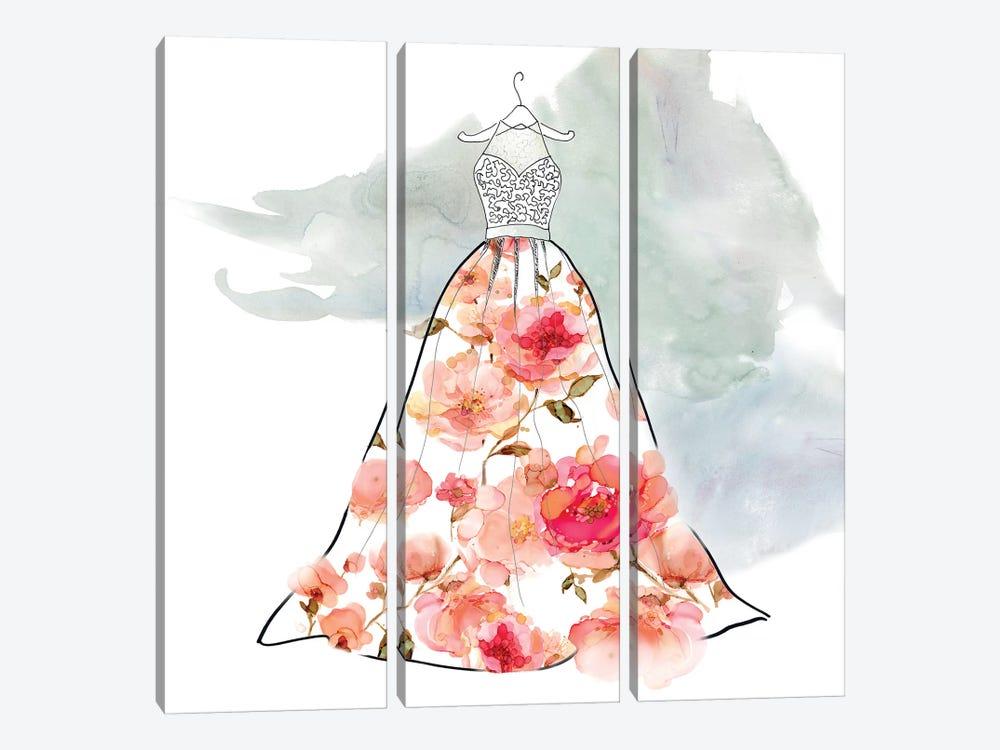 Fashionable Florals III by Carol Robinson 3-piece Canvas Print