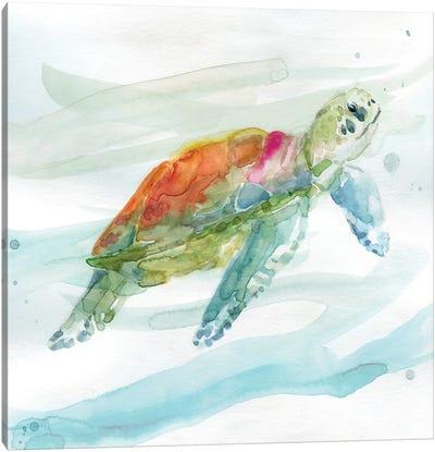 Turtle Tropics I Canvas Art Print