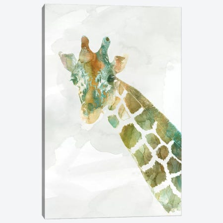 African Colors Giraffe Canvas Print #CRO485} by Carol Robinson Canvas Artwork