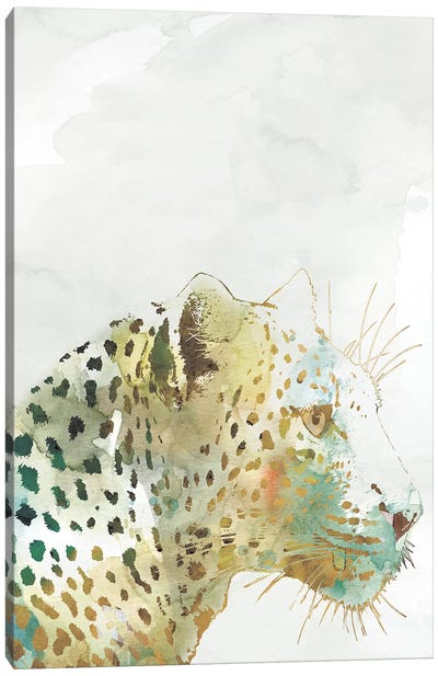 African Colors Leopard Canvas Art Print