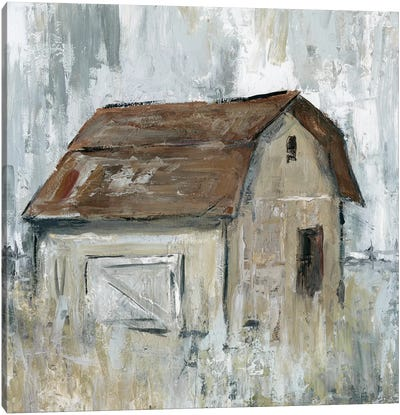 Barn At Dusk Canvas Art Print
