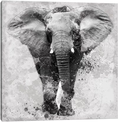 Proud Elephant Canvas Art Print