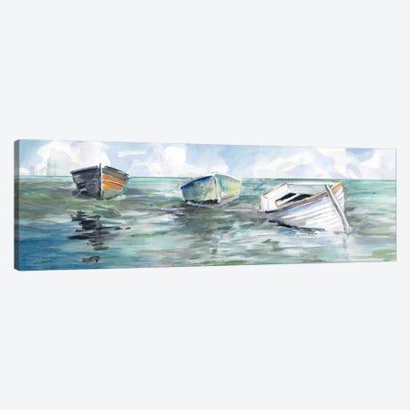 Caught At Low Tide I Canvas Print #CRO497} by Carol Robinson Canvas Print