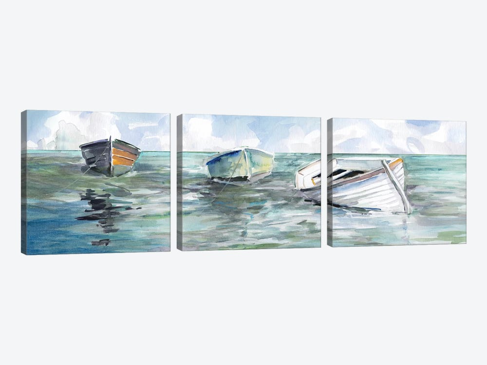 Caught At Low Tide I by Carol Robinson 3-piece Canvas Art
