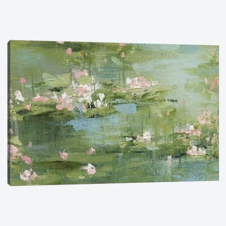 Celadon Waterlillies I Canvas Print #CRO499} by Carol Robinson Canvas Art
