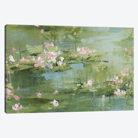 Celadon Waterlillies I Canvas Print #CRO499} by Carol Robinson Canvas Art
