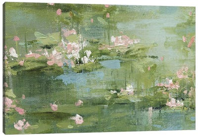 Celadon Waterlillies I Canvas Art Print