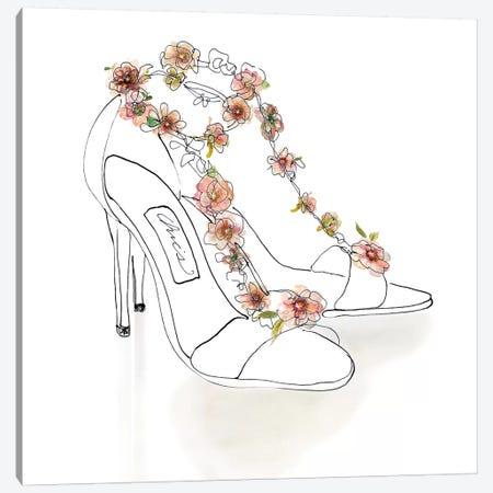 Chic Flower Heels Canvas Print #CRO500} by Carol Robinson Canvas Artwork