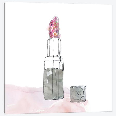 Chic Flower Lipstick 3-Piece Canvas #CRO501} by Carol Robinson Canvas Artwork