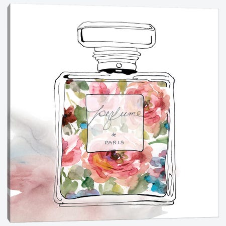 Chic Flower Perfume II Canvas Print #CRO503} by Carol Robinson Canvas Artwork