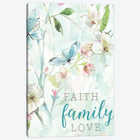 Faith Family Love Canvas Print #CRO511} by Carol Robinson Canvas Print