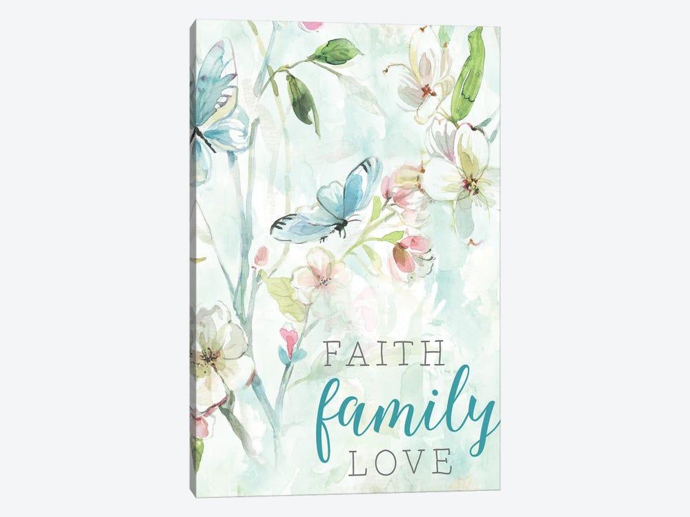 Faith Family Love by Carol Robinson 1-piece Canvas Print