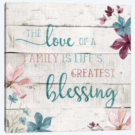 Family Blessing Canvas Print #CRO512} by Carol Robinson Canvas Print