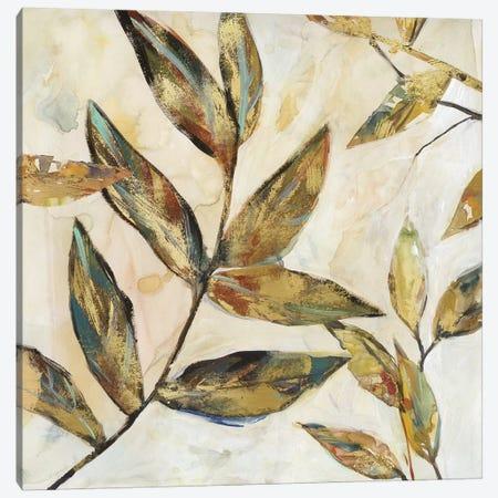 Gilded Leaves I Canvas Print #CRO516} by Carol Robinson Canvas Artwork