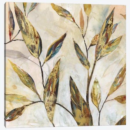 Gilded Leaves II 3-Piece Canvas #CRO517} by Carol Robinson Canvas Wall Art