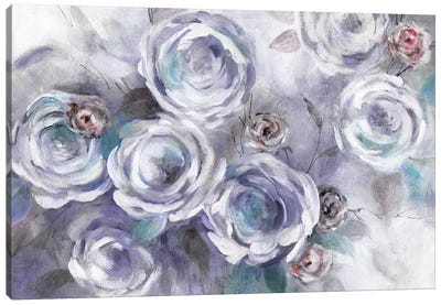 Iced Flowers Canvas Art Print