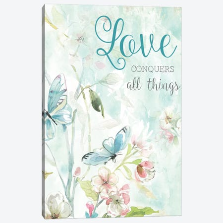 Love Conquers Canvas Print #CRO528} by Carol Robinson Canvas Wall Art