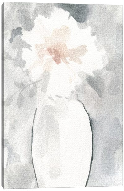 Silver Blush I Canvas Art Print
