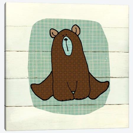 Woodland Creatures Bear Canvas Print #CRO560} by Carol Robinson Canvas Art