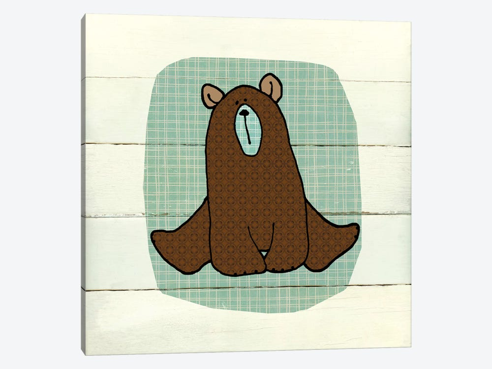 Woodland Creatures Bear by Carol Robinson 1-piece Canvas Print