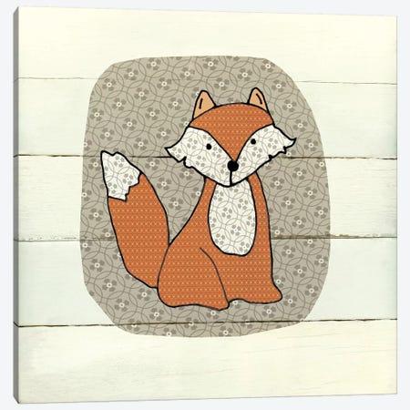Woodland Creatures Fox Canvas Print #CRO561} by Carol Robinson Canvas Wall Art