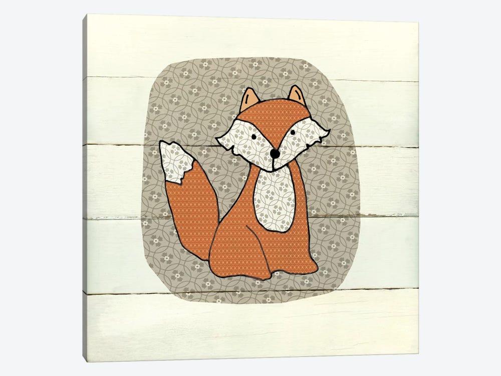 Woodland Creatures Fox by Carol Robinson 1-piece Canvas Wall Art