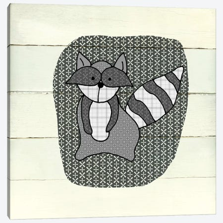 Woodland Creatures Raccoon Canvas Print #CRO563} by Carol Robinson Canvas Wall Art