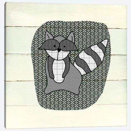 Woodland Creatures Raccoon Canvas Print #CRO563} by Carol Robinson Canvas Wall Art