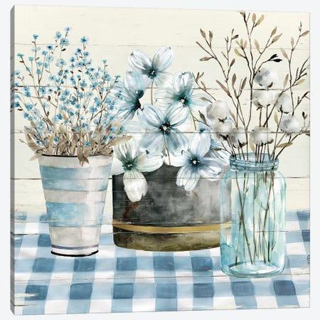 Blue Farmhouse Canvas Print #CRO571} by Carol Robinson Canvas Print