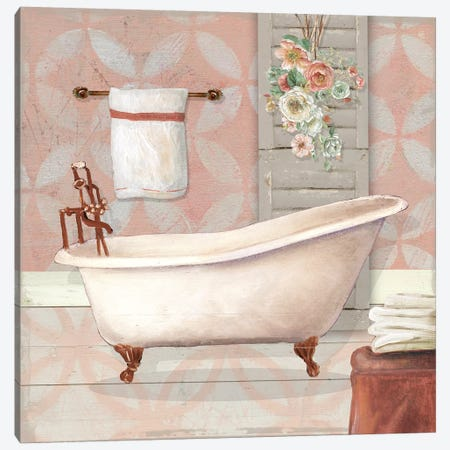 Blushing Bath I Canvas Print #CRO574} by Carol Robinson Canvas Wall Art