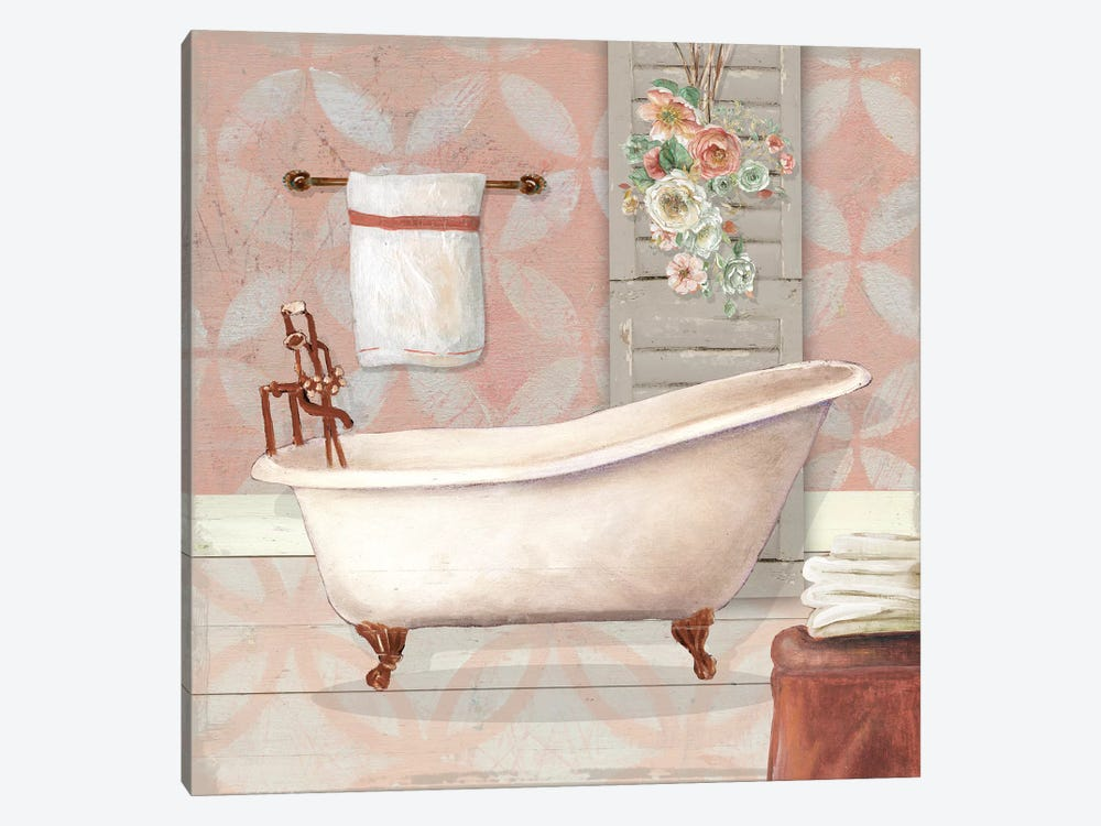 Blushing Bath I 1-piece Canvas Wall Art