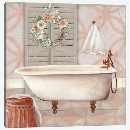 Blushing Bath II Canvas Print #CRO575} by Carol Robinson Canvas Art